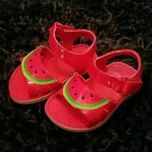 New Baby Gymboree Watermelon sandals- cute
